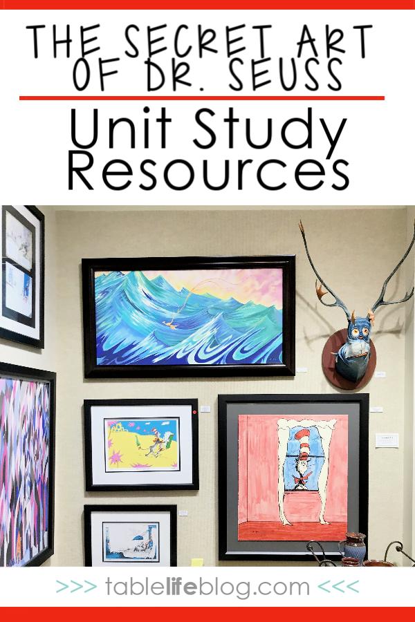 The Secret Art of Dr. Seuss Unit Study Resources