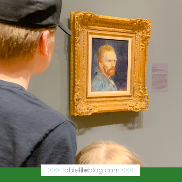 My kids loved the Vincent Van Gogh and His Inspirations exhibit at the Columbia Museum of Art!