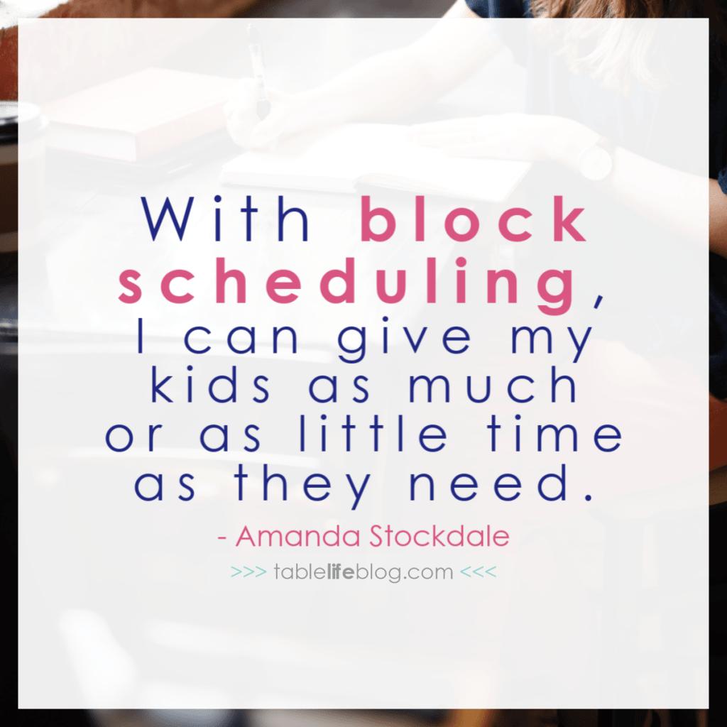 Using a Block Schedule to Make Homeschool Planning Easier