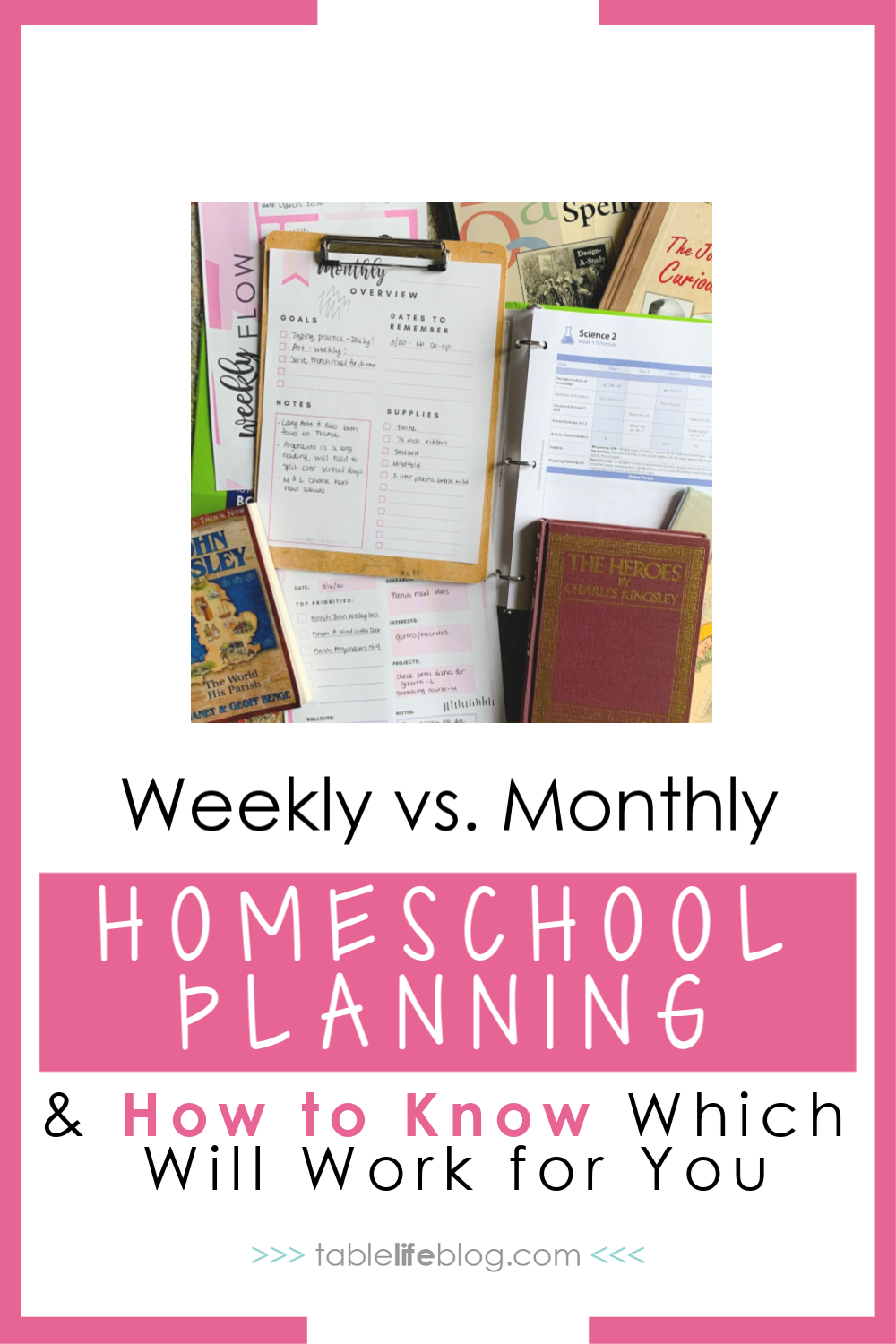 Not sure how far in advance to plan your homeschooling routine? Here's an overview of weekly and monthly homeschool planning and how to know which one will serve you better.