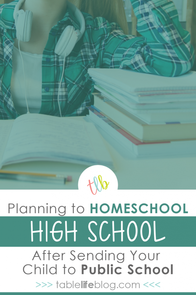 How to plan for homeschooling high school after sending your child to public school