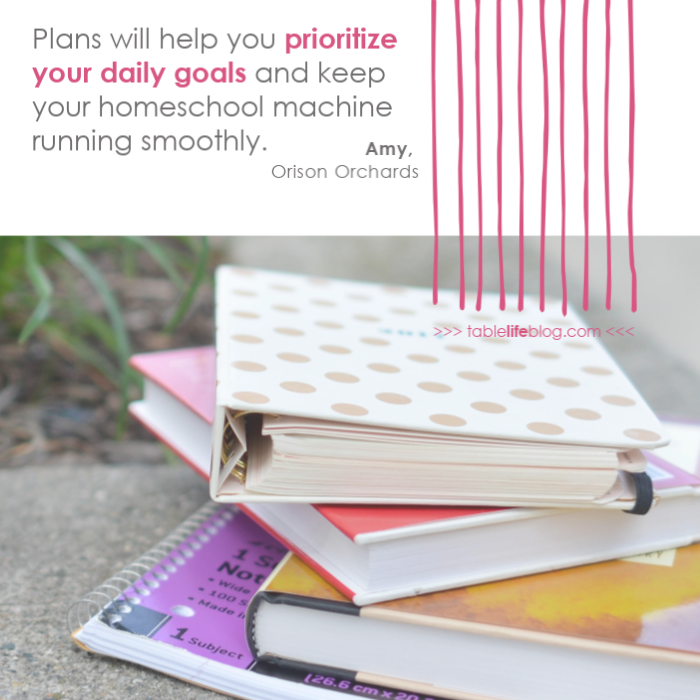 Simple and Sanity-Saving Tips for Big-Picture Homeschool Planning - Plans will help you prioritize your daily goals.