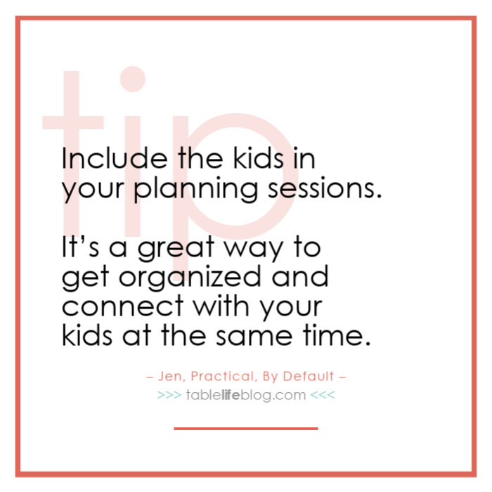 Include your kids in homeschool planning sessions.