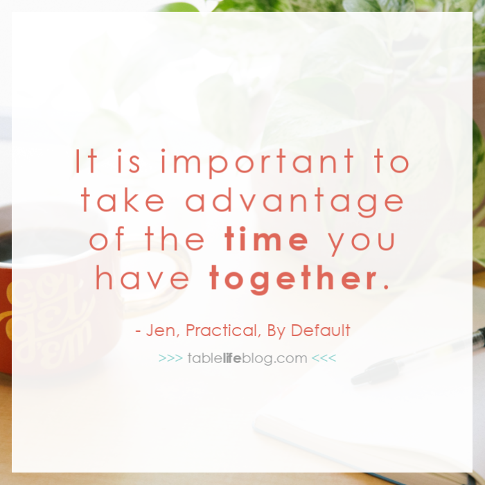 It's important to take advantage of the time you do have together if you're working while homeschooling.