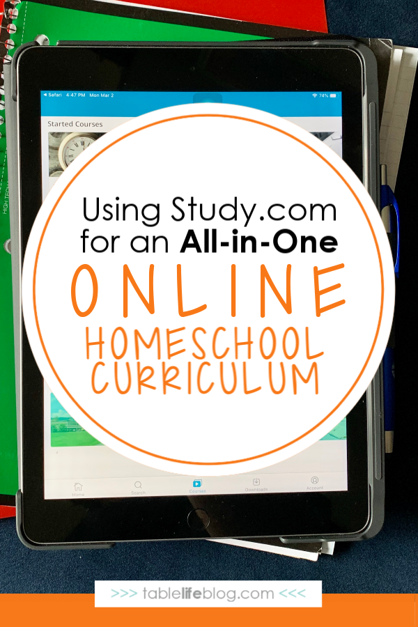 Using Study.com for an All-in-One Online Homeschool Curriculum