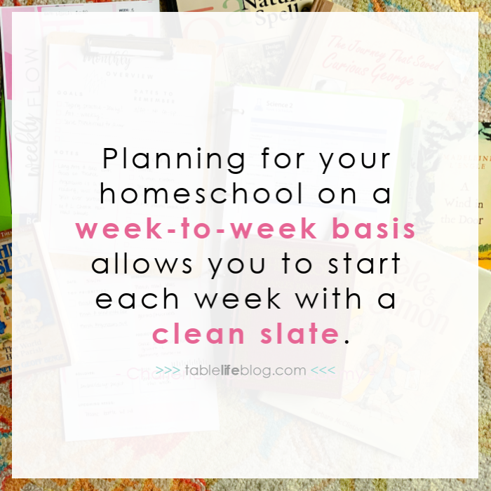 Weekly vs. Monthly Homeschool Planning and How to Know Which One Will Work for You