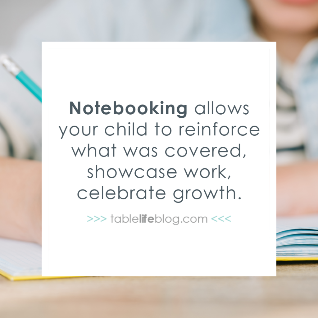 Notebooking allows your child to reinforce learning while celebrating growth.