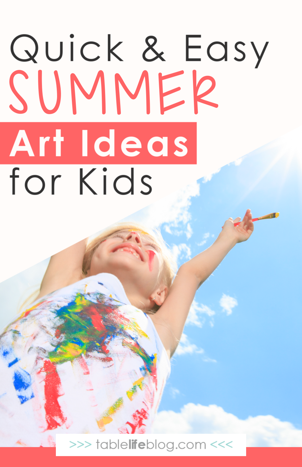 Your kiddos don't need to take a break from creativity this summer! Instead, inspire them with these fun, but easy summer art ideas.
