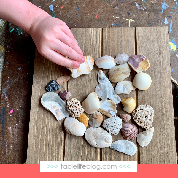 8 Fun and Easy Summer Art Ideas for Kids - Seashell plaque