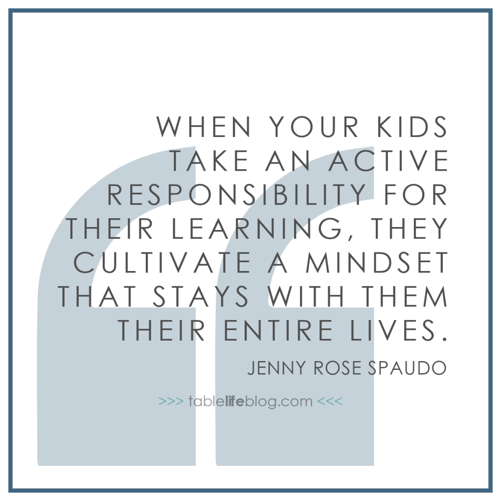 When your kids take an active responsibility for their learning, they cultivate a mindset that stays with them their entire lives.