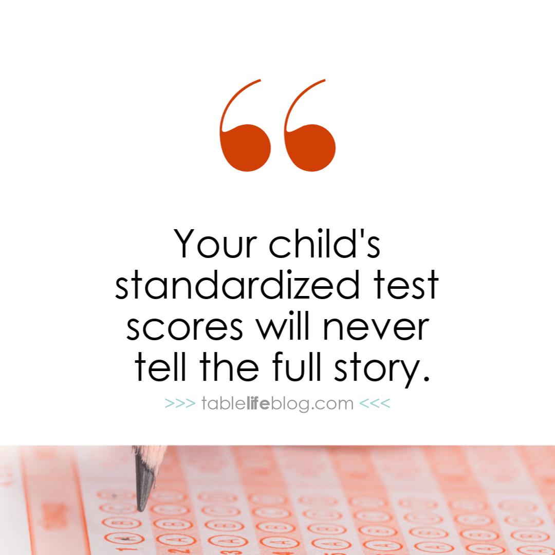 Standardized test scores don't tell the full story.