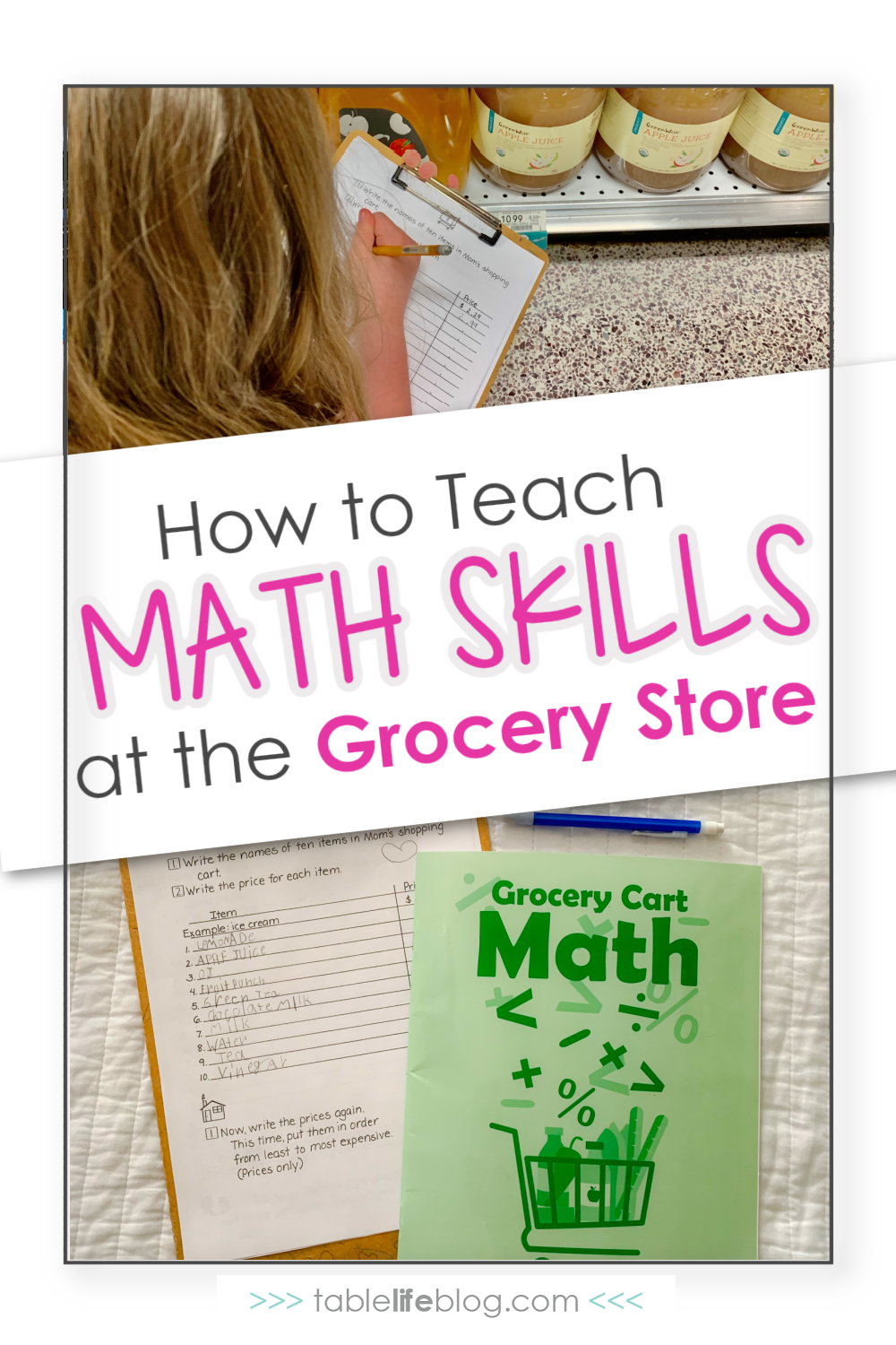 Looking for ways to homeschool while running errands with your kids? We found a great resource that will help you tackle math at the grocery store!