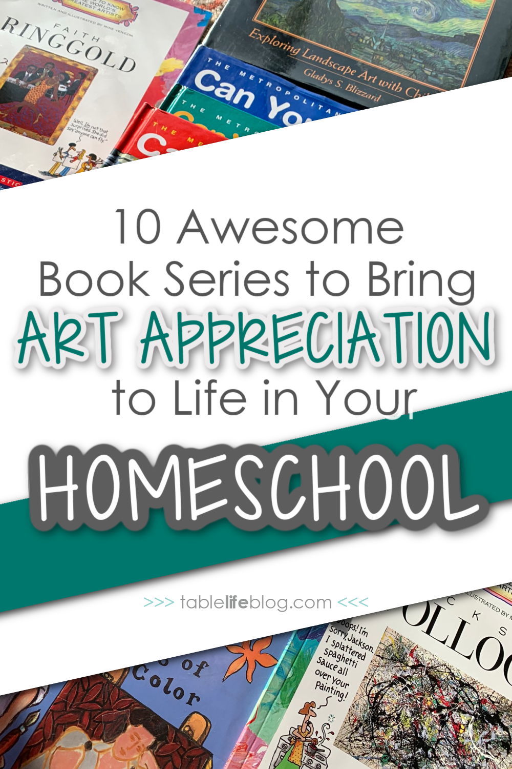 Looking for art appreciation books to read with your kids? These book series are our go-to reads for all of our homeschool art adventures.