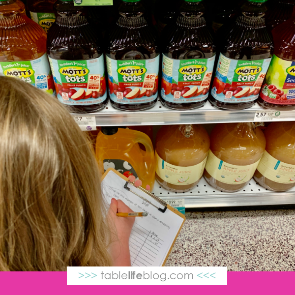 How to teach math skills at the grocery store
