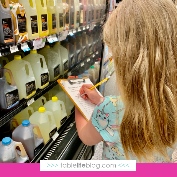 Need help working life skills into your homeschool plans? We found a great resource that will help you tackle math at the grocery store!