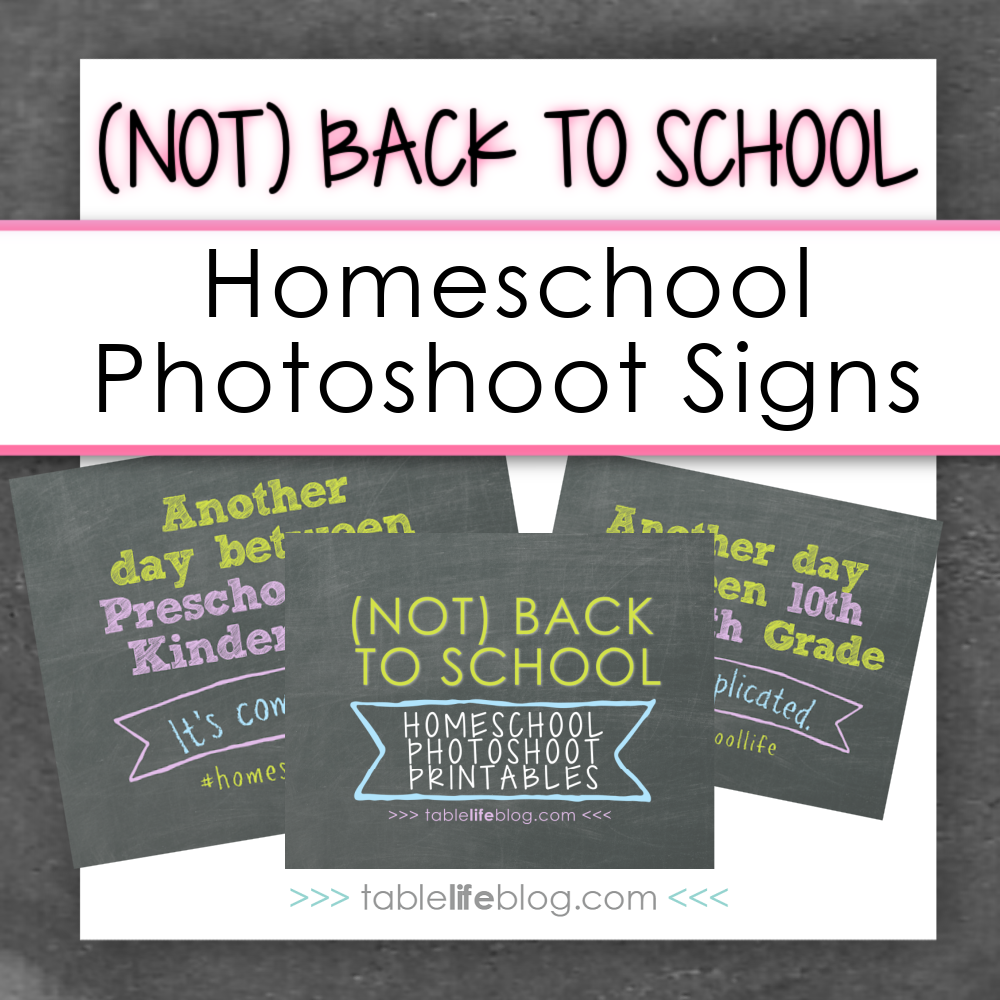 (Not) Back to School Homeschool Photoshoot Signs