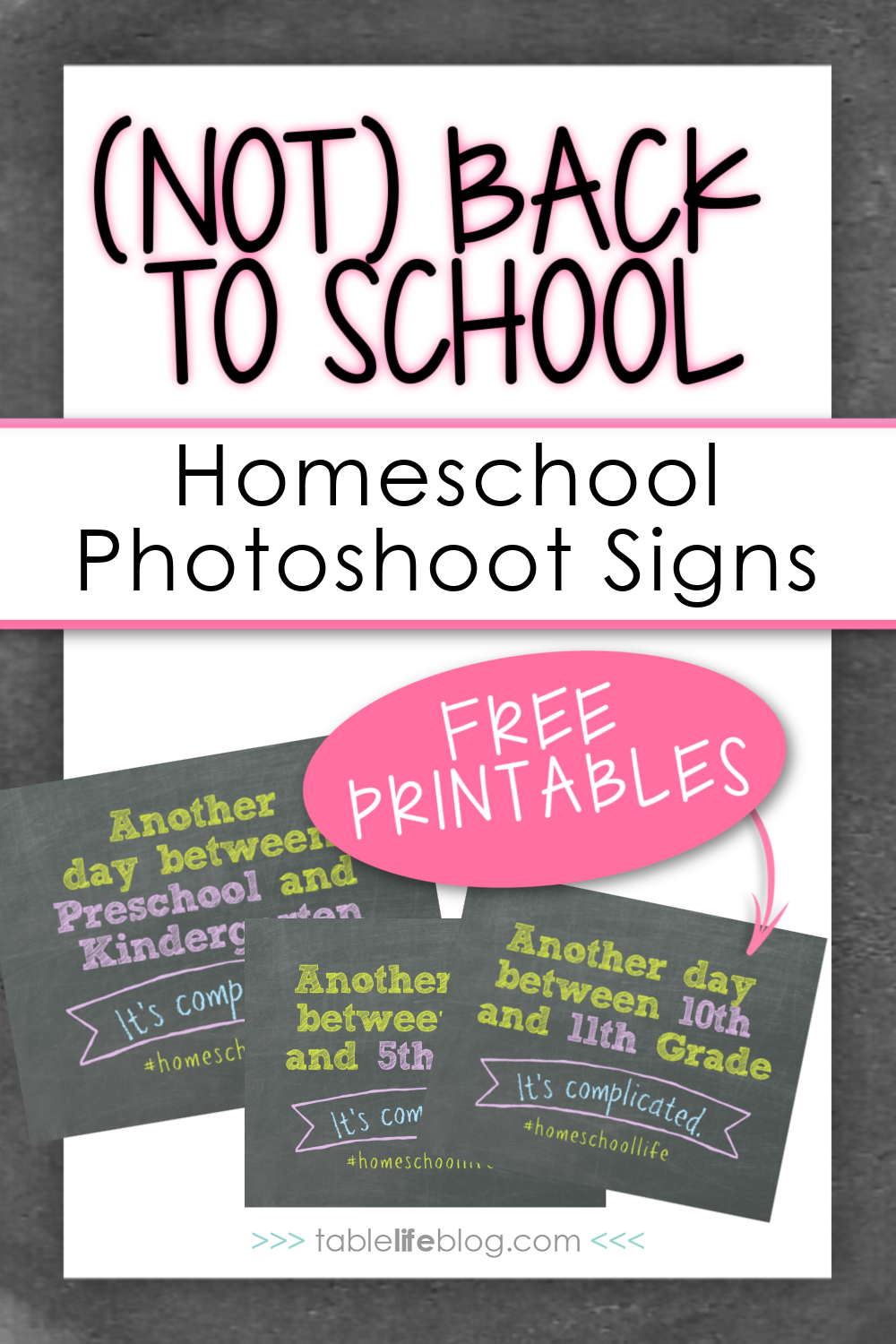 Celebrate (not) back to school with these fun homeschool photoshoot signs!