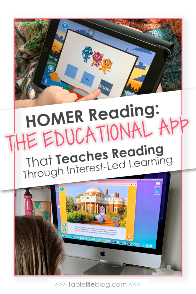 Our favorite thing about the HOMER Reading app is how it combines reading practice with interest-led learning!