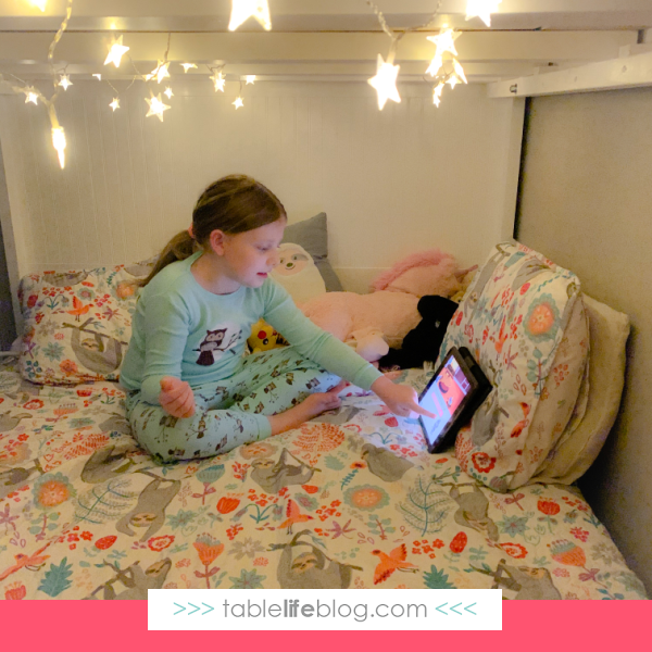 Does your favorite educational app read bedtime stories to the kids? Ours does!
