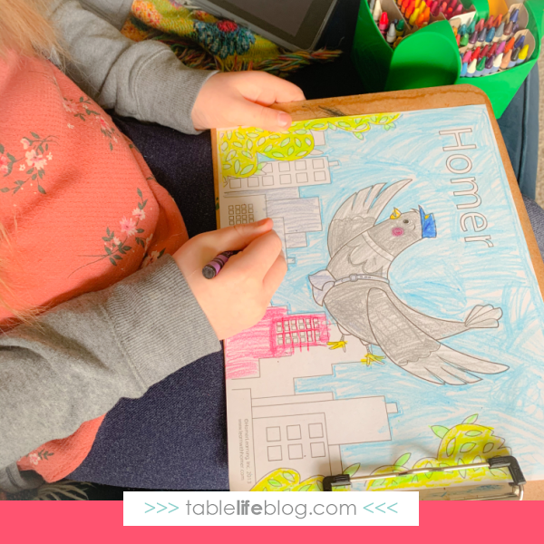 We found a fun assortment of printable pages through the HOMER educational app.