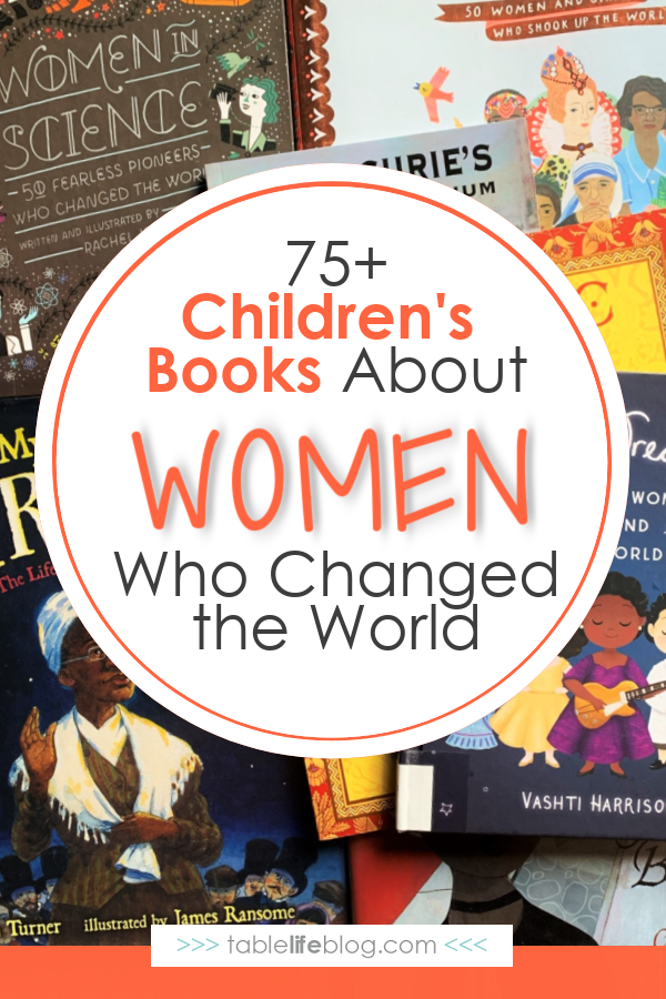 Looking for biographies to read as you study women's history in your homeschool? Here's our list of children's books about women who changed the world.