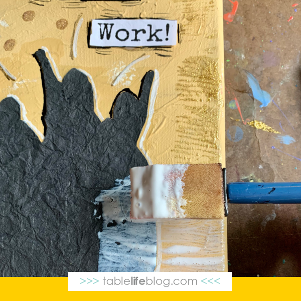 Hamilton Art for Kids - Step 4, Seal with Mod Podge