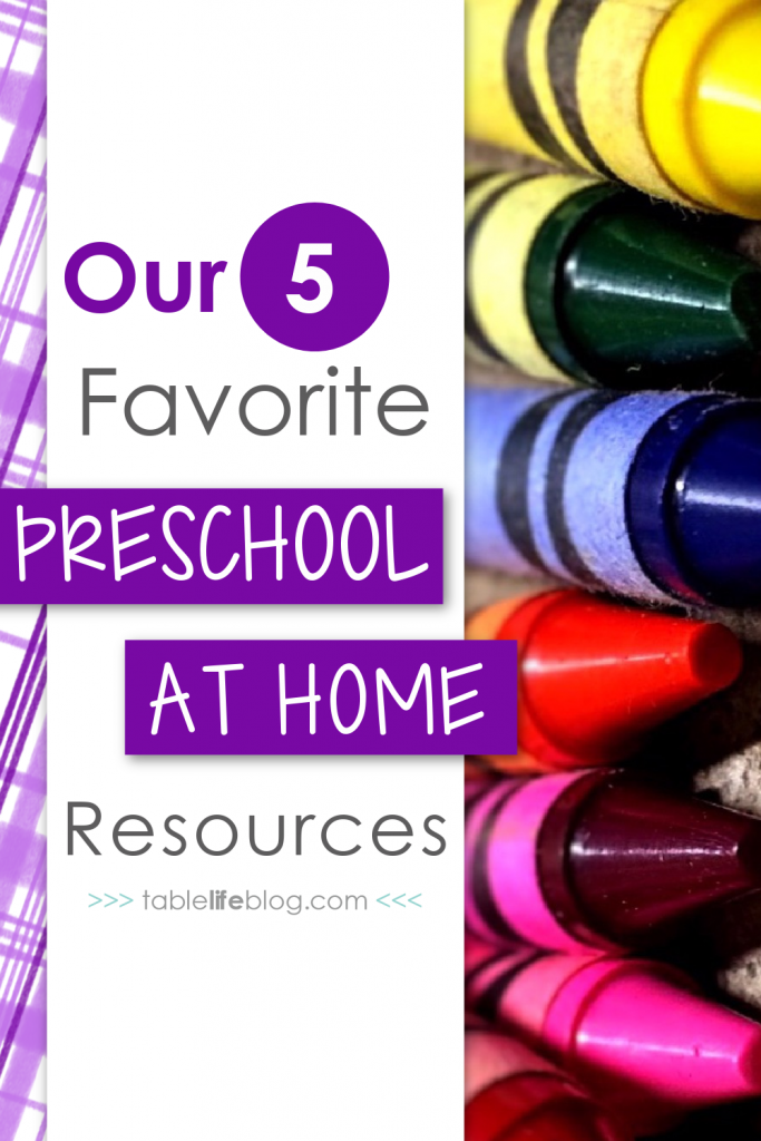 Need help wading through the homeschool preschool curriculum options? I've got you covered with this overview of 5 FUN & EASY options for preschool at home.