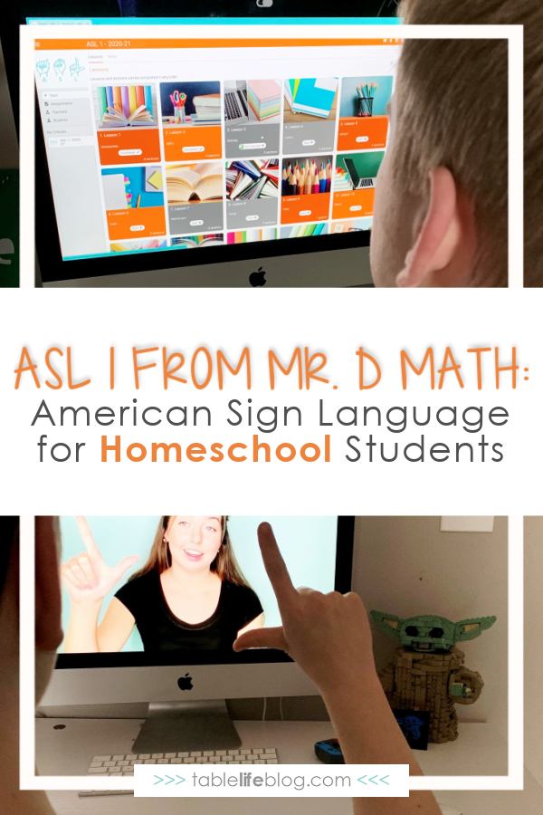 Looking for an American Sign Language course your teen can learn from home? Here's our review of Mr. D Math's ASL 1 Course for homeschool.
