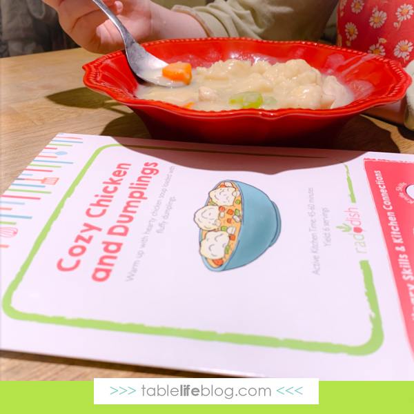 Our Raddish Kids subscription helps us get hands on with nutrition and life skills!