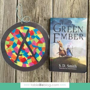 Quick & Easy Stained Glass Suncatcher Craft Inspired by The Green Ember