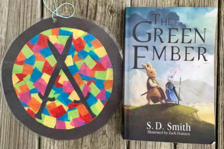 Looking for an easy craft to do with your kids while you read The Green Ember together? Here's a fun stained glass suncatcher craft to add to your plans!