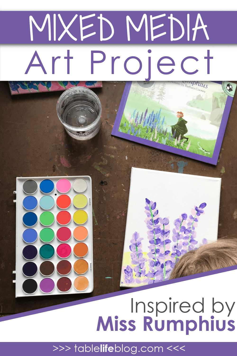 Looking for a way to make the world more beautiful? This Miss Rumphius mixed media art project is a great place to start!