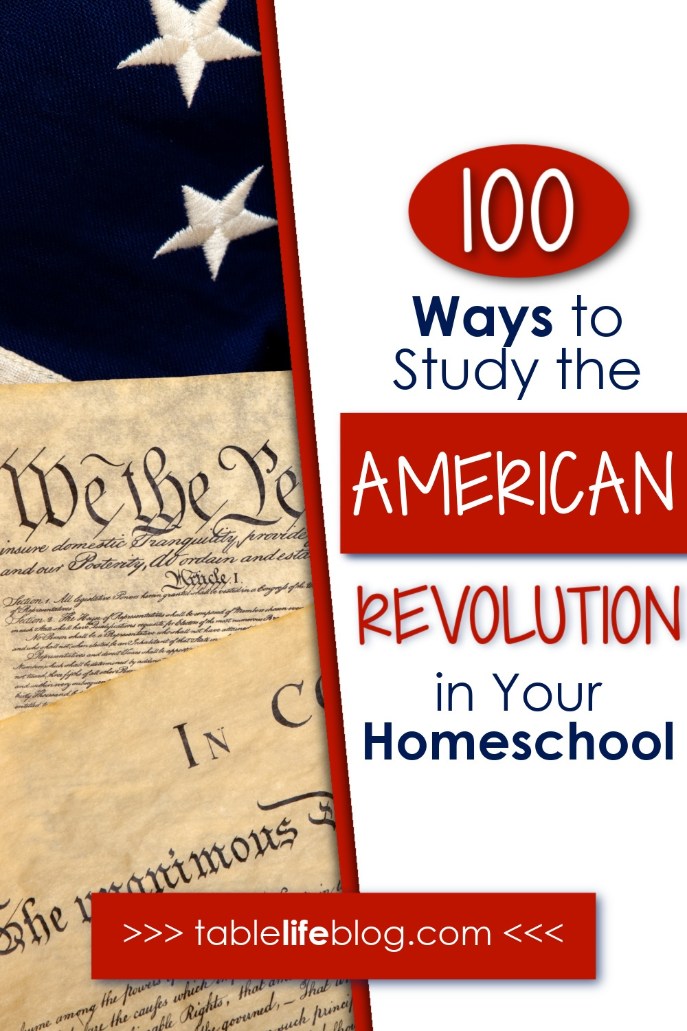 Planning to cover the American Revolution in your homeschool? We've got a great list of 100 resources to make it happen.