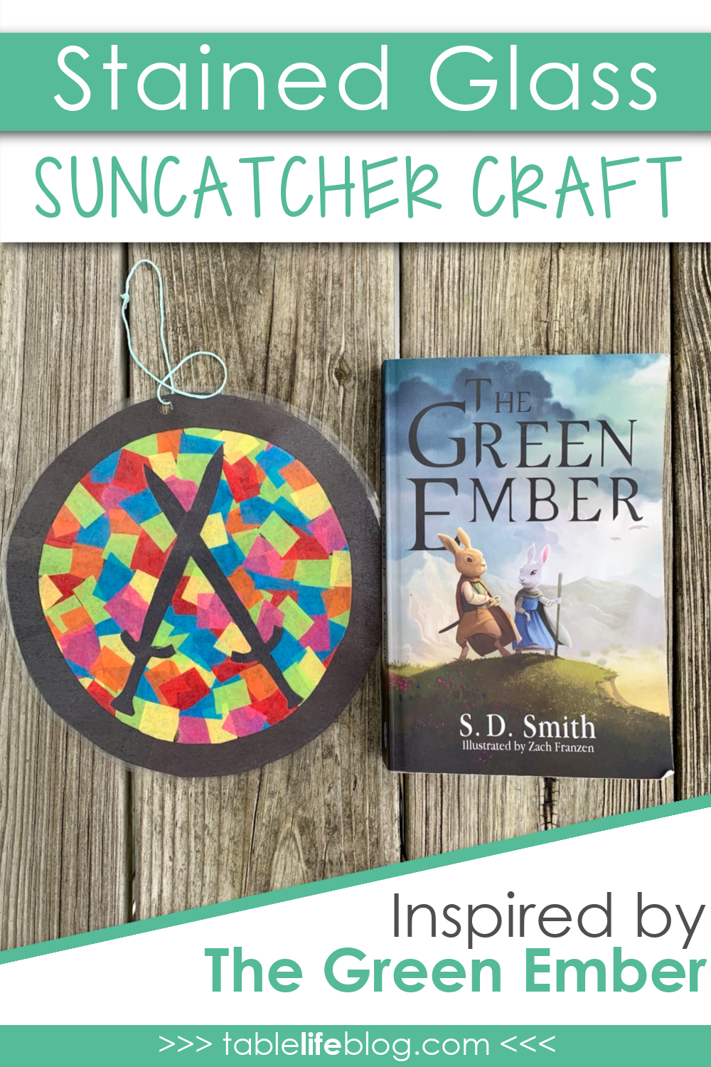 Looking for an easy craft to do with your kids while you read The Green Ember together. Here's a fun stained glass suncatcher craft to add to your plans!