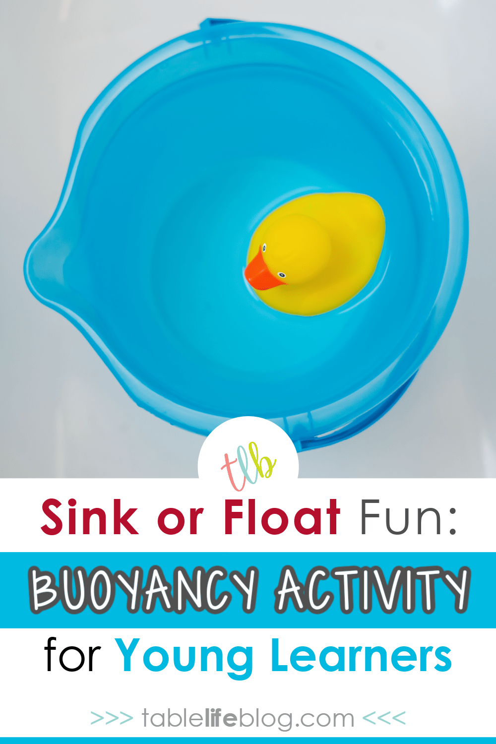 Want to explore buoyancy with your little one? This sink or float experiment can help!