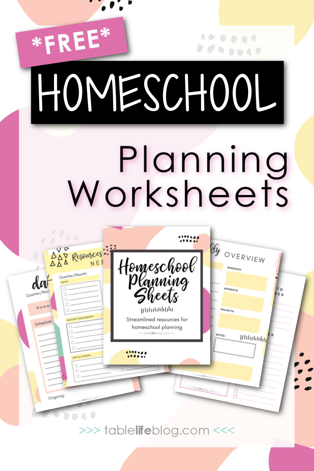 Looking for a streamlined homeschool planning process, but don't know where to start? These Simplified Homeschool Planning Worksheets can help.
