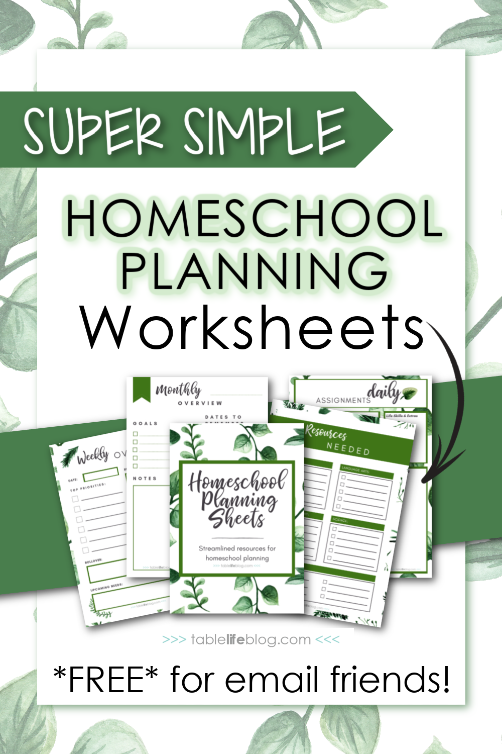 Super Simple Homeschool Planning Worksheets: Free Downloads for Relaxed Homeschooling: