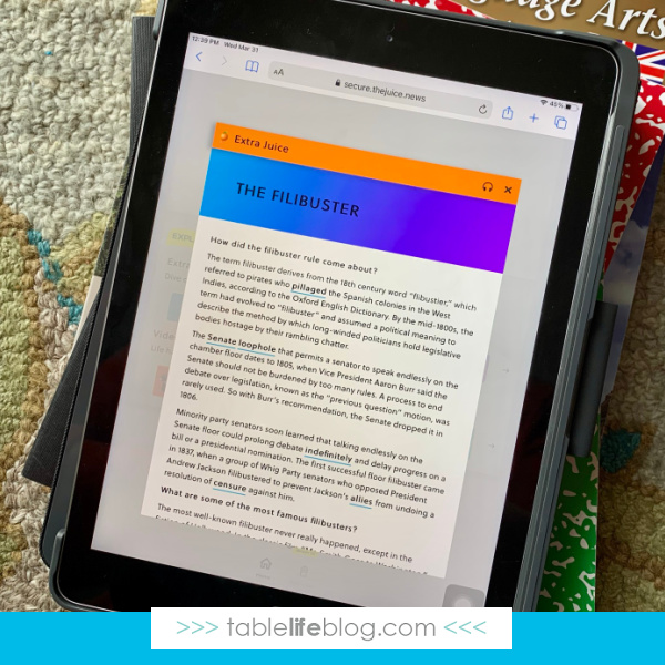 The Juice: the Easiest Solution for Teaching Current Events in Your Homeschool