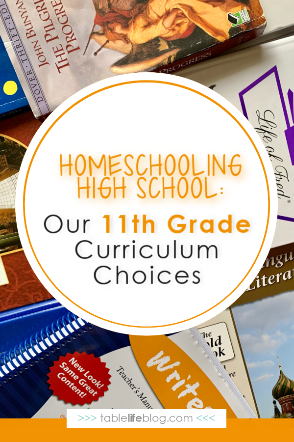 Looking for inspiration for the high school years of homeschooling? Here's a rundown of our 11th grade curriculum choices and what's in store for junior year.