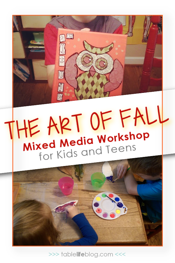 Looking for some art inspiration to enjoy during the autumn months of homeschooling? This fall-themed mixed media workshop can help!
